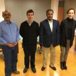 Reunión entre la delegación saharaui y el consejero de Política Migratoria y Justicia del Gobierno de Navarra.