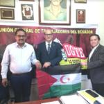 Organizaciones sociales en Ecuador expresan su apoyo y compromiso con el derecho a la autodeterminación del pueblo saharaui.