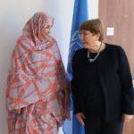 Haidar aborda con la Alta Comisionada de Naciones Unidas para los Derechos Humanos la situación en las zonas ocupada del Sahara Occidental.