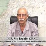 """Brahim Gali: """"La misión principal de la MINURSO es organizar el referéndum, y su desviación del mandato original debe corregirse sin demora""""."""