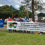 BRASIL: concentración ante embajada de Marruecos en solidaridad con el pueblo saharaui